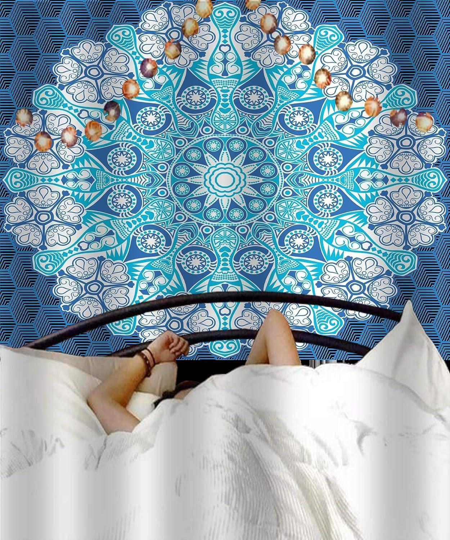 Orgner Tapiz Indio Mandala, Tapiz Hippie, para Colgar en la Pared, Boho y para Yoga y meditación. Ref - Tapiz Bohemio (60 x 60 cm, 1 Unidad), diseño de Mandala, 60 x 60