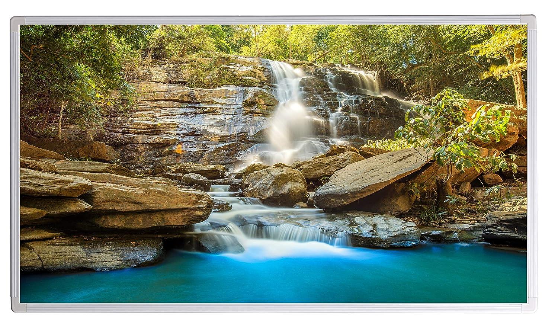5 Jahre Herstellergarantie- Elektroheizung mit /Überhitzungsschutz Bildheizung Infrarotheizung mit Digitalthermostat f/ür Steckdose Wasserfall Kroatien Krka Nationalpark;1000W T/ÜV gepr/üft -