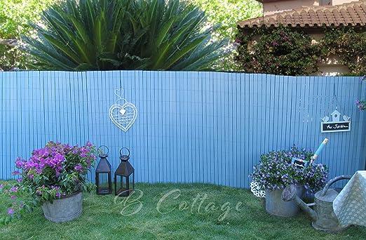 Cercado/Ocultación MADERA COMPOSITE pintado en AZUL VINTAGE. 1mx2,50 m. Marca: B Cottage Decor, 1x2,50 m.: Amazon.es: Jardín