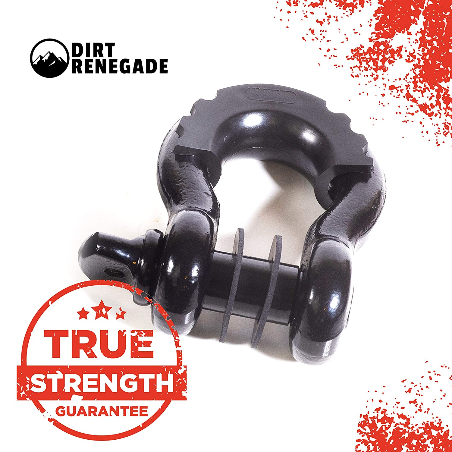 Jeep Tow 48,100 lb SUV Overland Off-Roading Isolator Dirt Renegade D Ring Shackles with Isolators Winch Hitch 3//4 Recovery Shackle Washer Set Towing Truck 7//8 Pin Off Road Car