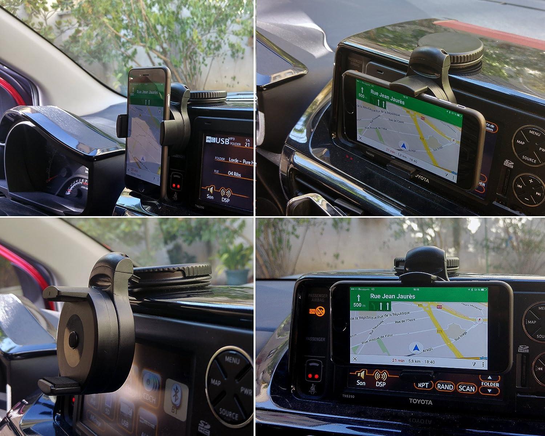 Soporte universal de coche FLY Auto con el montaje del parabrisas ventosa, el panel, la parrilla y la ventilación para el iPhone 4S / iPhone 5 / iPhone 5S / 5C iPhone / Samsung Galaxy S2 y S3 y S4 / HTC One / Sony Xperia / Nokia / Huawei / Acer MMS
