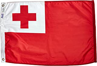 product image for Annin Flagmakers Model 221590 Tonga Flag Nylon SolarGuard NYL-Glo, 2x3 ft, 100% Made in USA to Official United Nations Design Specifications
