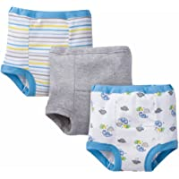 Gerber Baby Toddler Boy Training Pants, 3-Pack Blue