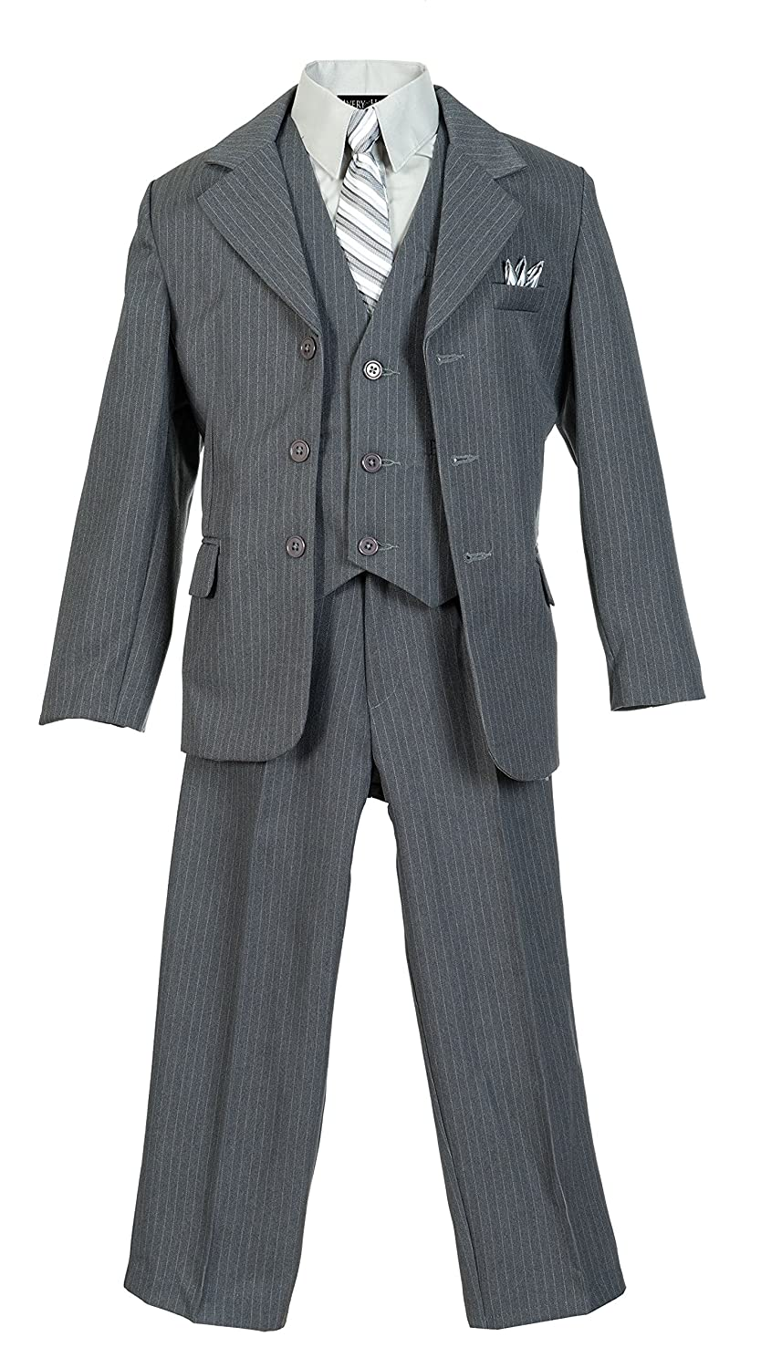 1940s Children's Clothing: Girls, Boys, Baby, Toddler Boys Pinstripe Suit Set with Matching Tie Size 2T-20 $44.99 AT vintagedancer.com