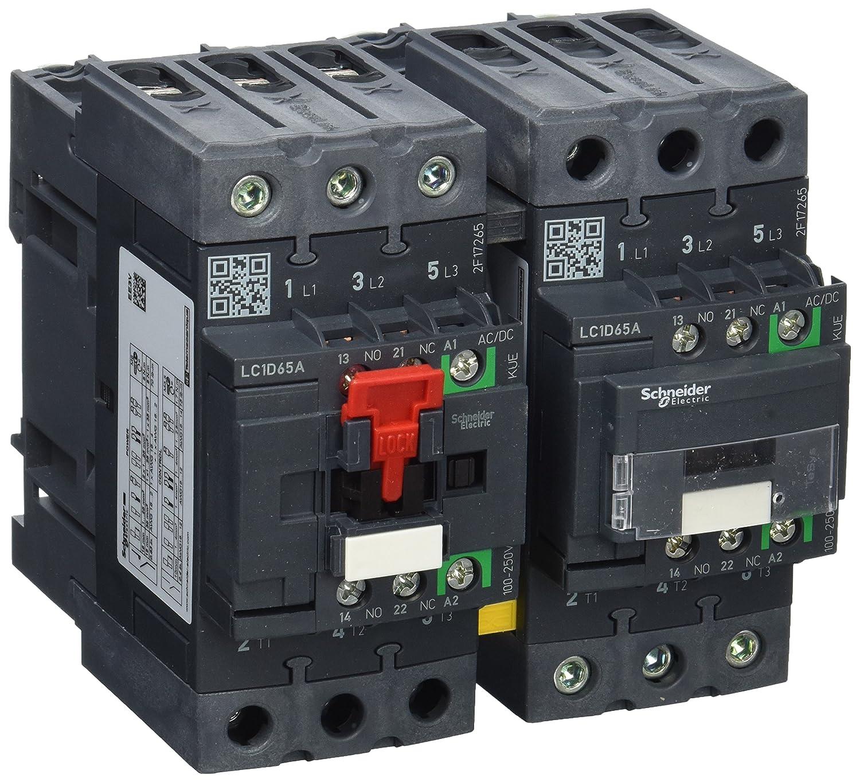 1/Ö 1S Coil 100/ AC3/37kW//400/V//65/A Schneider LC2D6/5AKUE Reversible Contactor Unit /250/V AC//DC N 3P