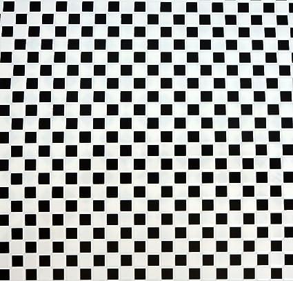 Dollhouse Black White Vinyl Tile Floor