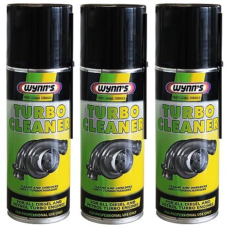 3 Wynn de limpiador de turbo para Gasolina y Diesel turbochargers 200 ml aerosol Wynns 28679