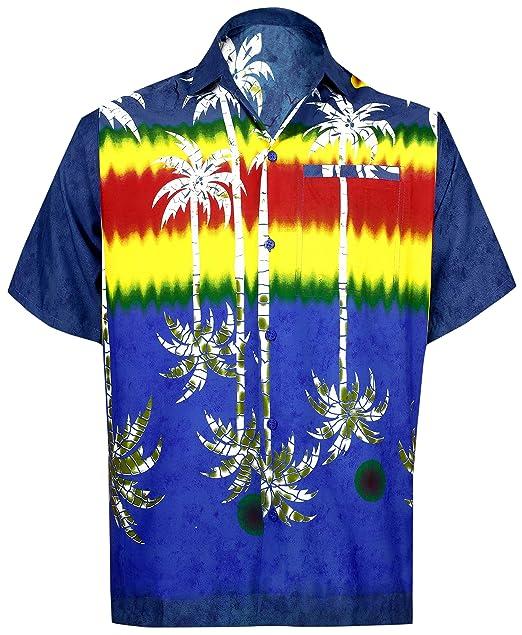 *La Leela* Likre Juego Hawaiano Camisa y Vestidos para Hombre 70s 80s 90s Camisa