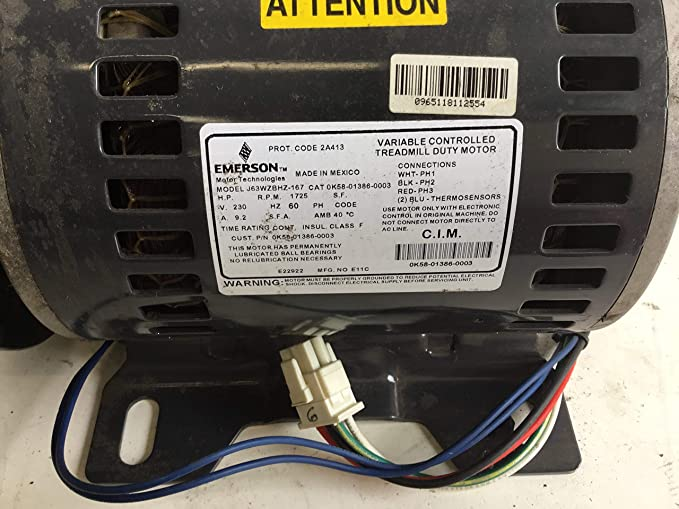 Life Fitness DC Drive Motor J63WZBHZ-167 AK58-00171-0002 Works ...