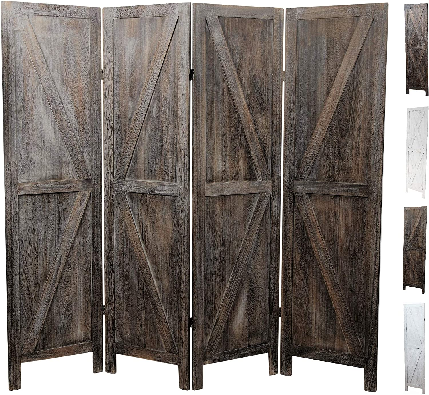Premium Home Room Divider: Room dividers and Folding Privacy Screens, Privacy Screen, Partition Wall dividers for Rooms, Room Separator, Temporary Wall, Folding Screen, Rustic Barnwood (Barnwood): Furniture & Decor