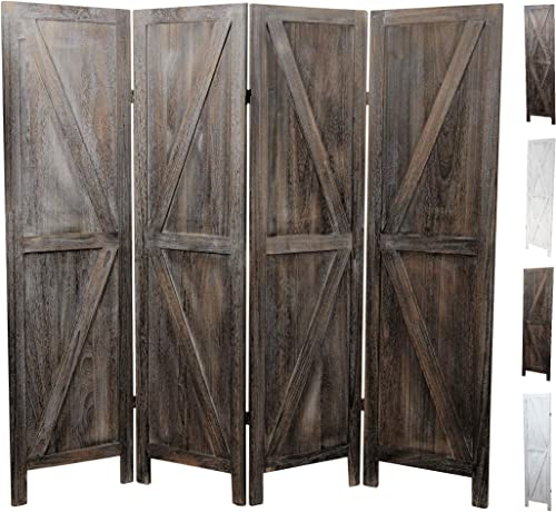 Premium Home Room Divider Room dividers and Folding Privacy Screens, Privacy Screen, Partition Wall dividers for Rooms, Room Separator, Temporary Wall, Folding Screen, Rustic Barnwood Barnwood