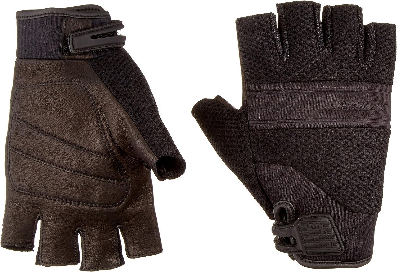Joe Rocket 1340-1003  Vento Mens Fingerless Motorcycle Riding Gloves Black, Medium