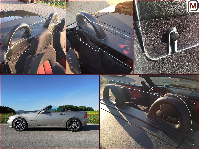Filet Anti-Remous Coupe de vent Mercedes Benz SLK R170 170 teinté verre acrylique Déflecteur de Vent K & R