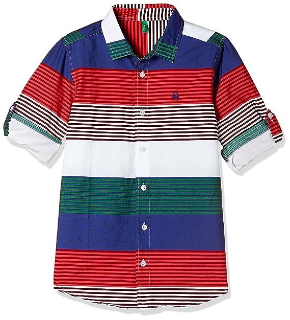 BENETTON Girls Red Checked Shirt 6-7 years Brand New