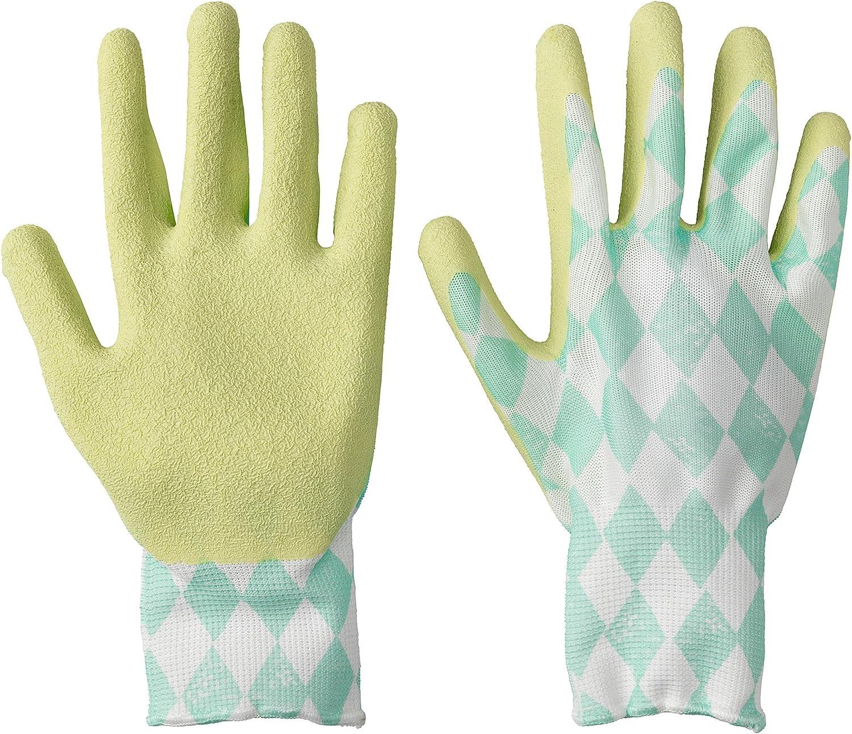 KRYDDNEJLIKA Gardening Gloves Rubber Dipped Grip Green Diamond