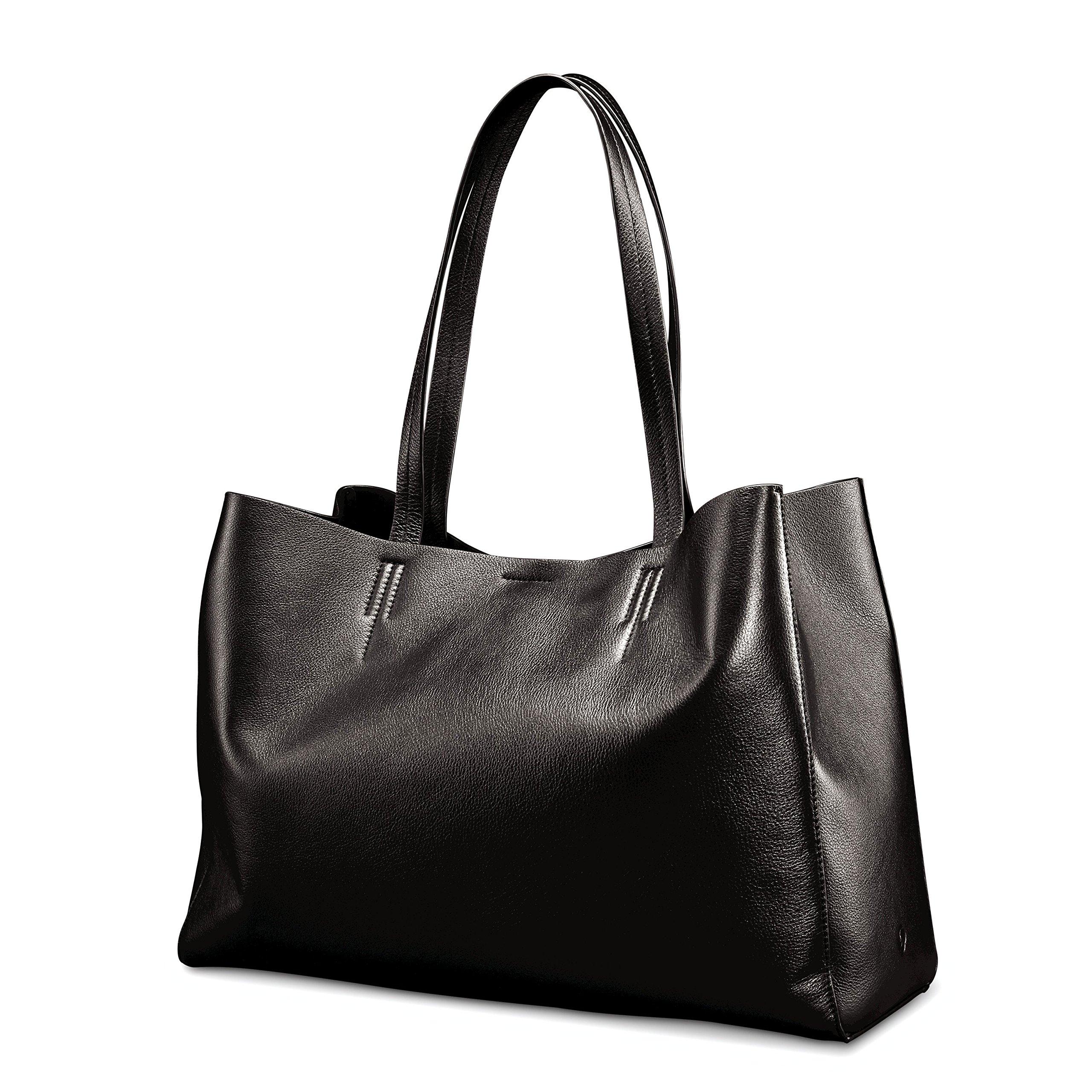Samsonite Business Leather Tote Black by Samsonite