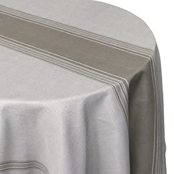 0836823c37794e Nappe ronde 180 cm imprimée 100% polyester BISTROT Taupe  Amazon.fr ...