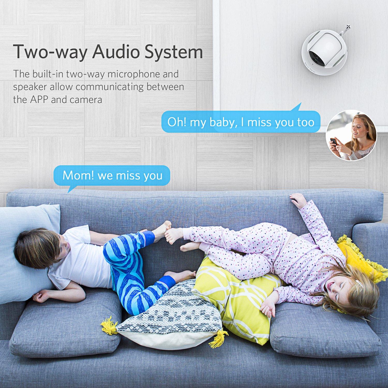 Katze-Tatze WiFi Camera, Baby Monitor WiFi Home Surveillance IP Camera Baby/Pet/Nanny Monitor, Work Echo Show Alexa, 2-Way Audio & Night Vision, Pan/Tilt, Motion Detect by Katze-Tatze (Image #4)