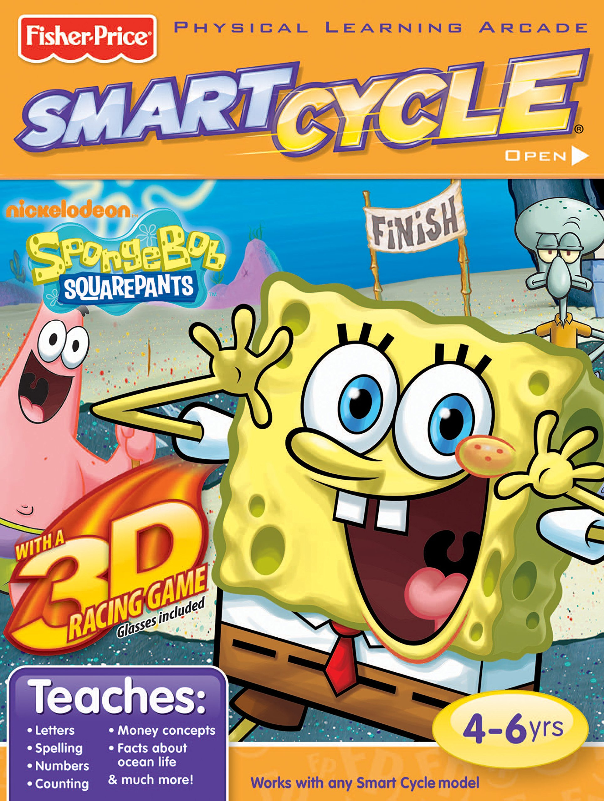 Fisher-Price Smart Cycle 3D [Old Version] SpongeBob Software Cartridge by Fisher-Price