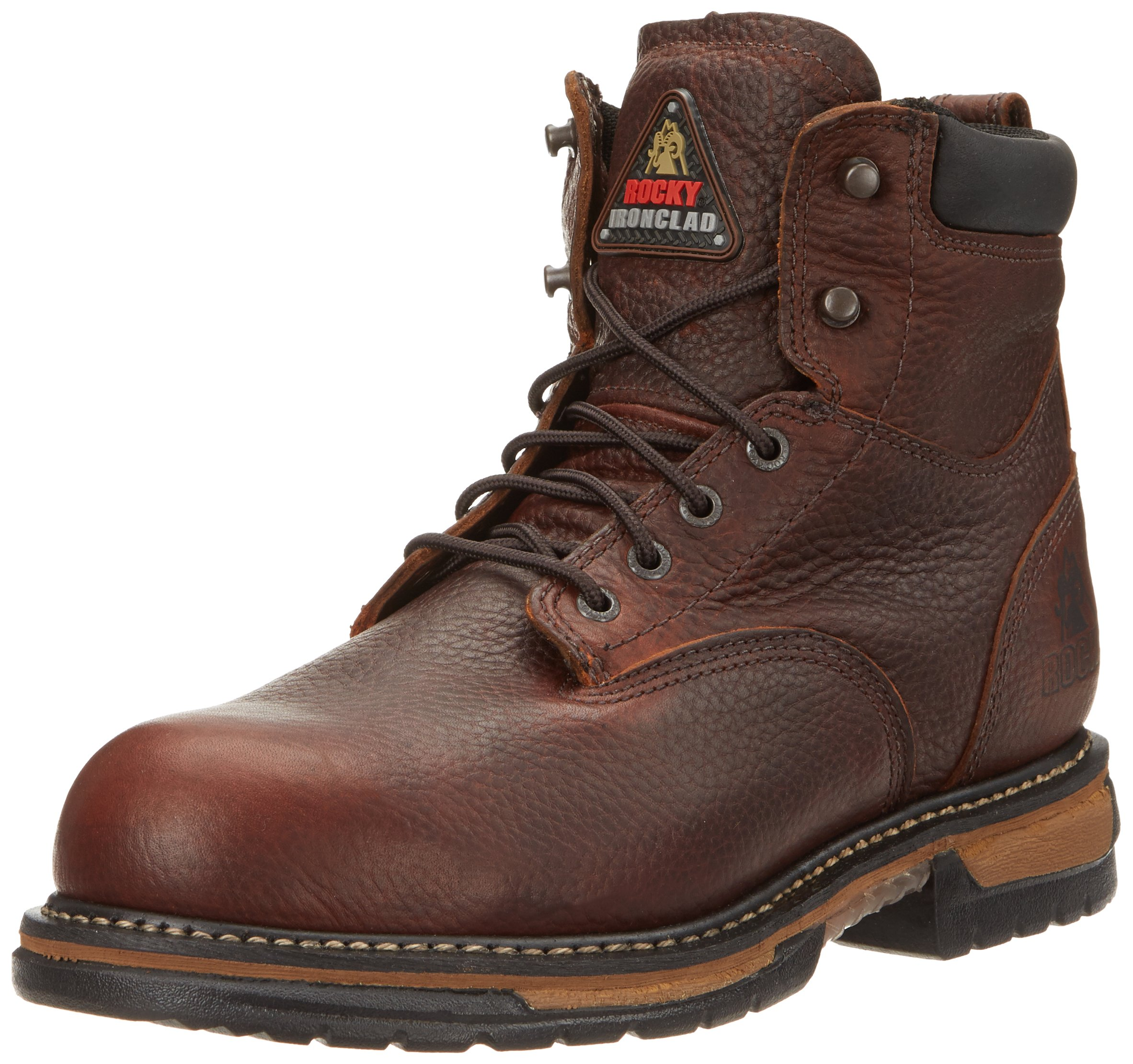Rocky Men's Iron Clad Six Inch Steel Toe Work Boot,Brown,11 W US