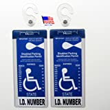 2 Sets of MirorTag Silver - A Novel Way to Protect, Display & Put Away a Handicapped Parking Placard