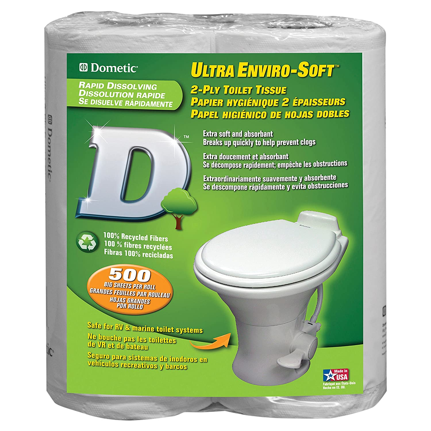 Dometic 379441206 2 Ply Toilet Tissue One Pack of 4 rolls