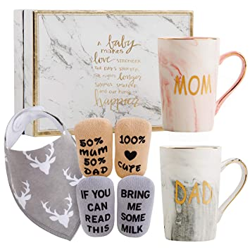 New Mom and Dad gift Parents to be Gifts Personalized Gifts for New Parents Personalized Baby Shower Gift Ideas Gift Set for New Parents