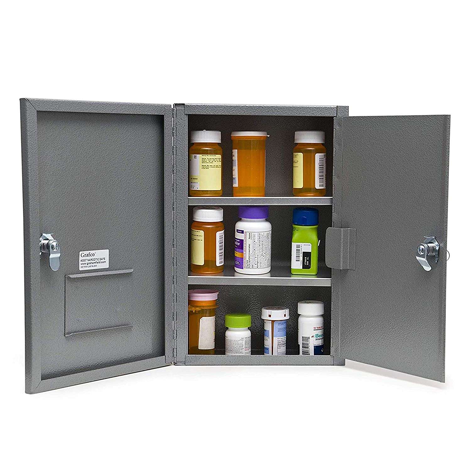 Grafco Locking Narcotic Safe with Double Door, Medium Size, 12 lb. Capacity, 3007