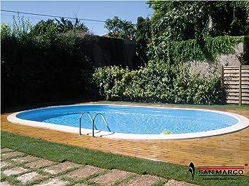 Gre M295048 - Piscina de Acero enterrada Ovalada Madagascar kpeov6159: Amazon.es: Jardín