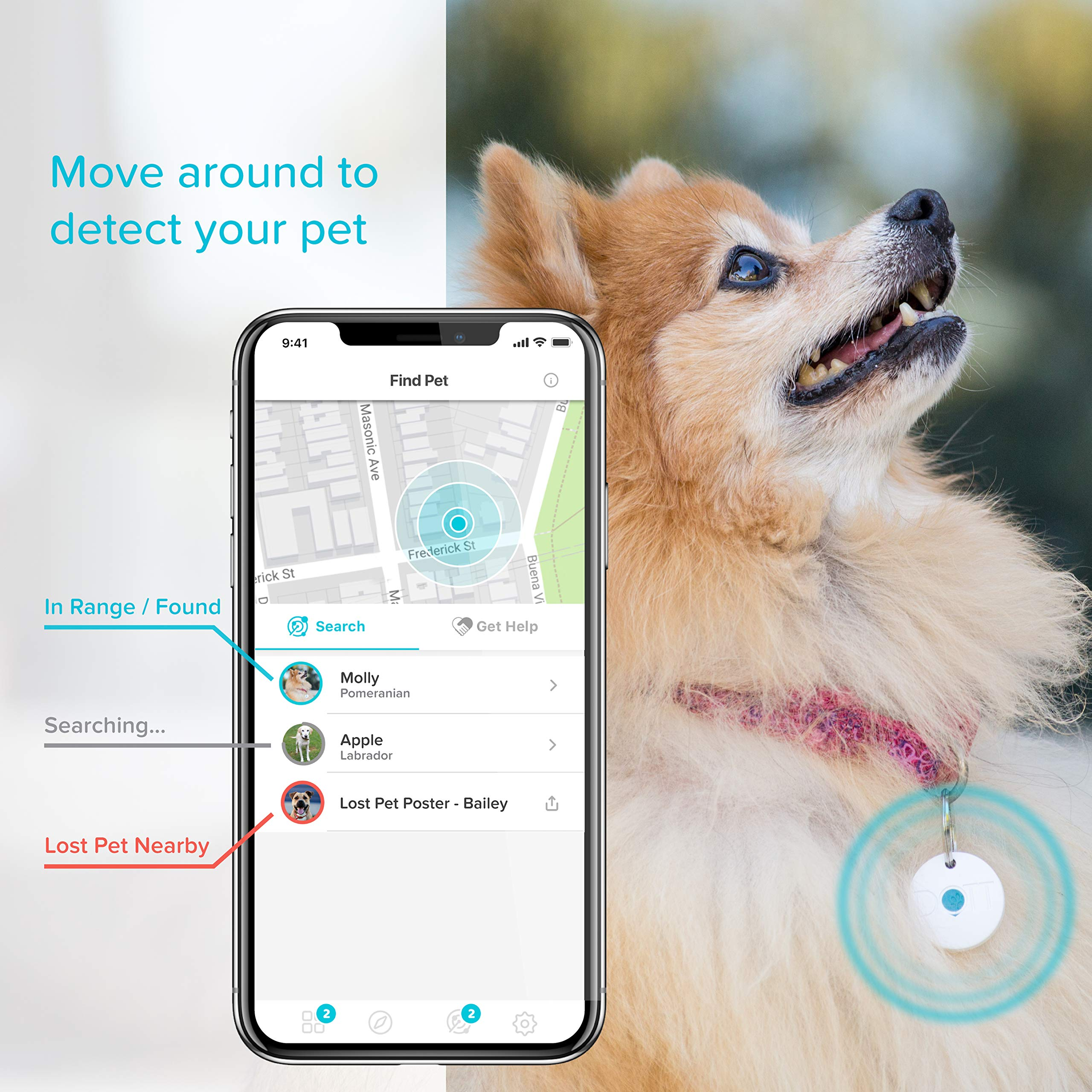 Dott The Smart Dog Tag Bluetooth Tracker For Dogs And Cats Pet Finder Virtual Leash No