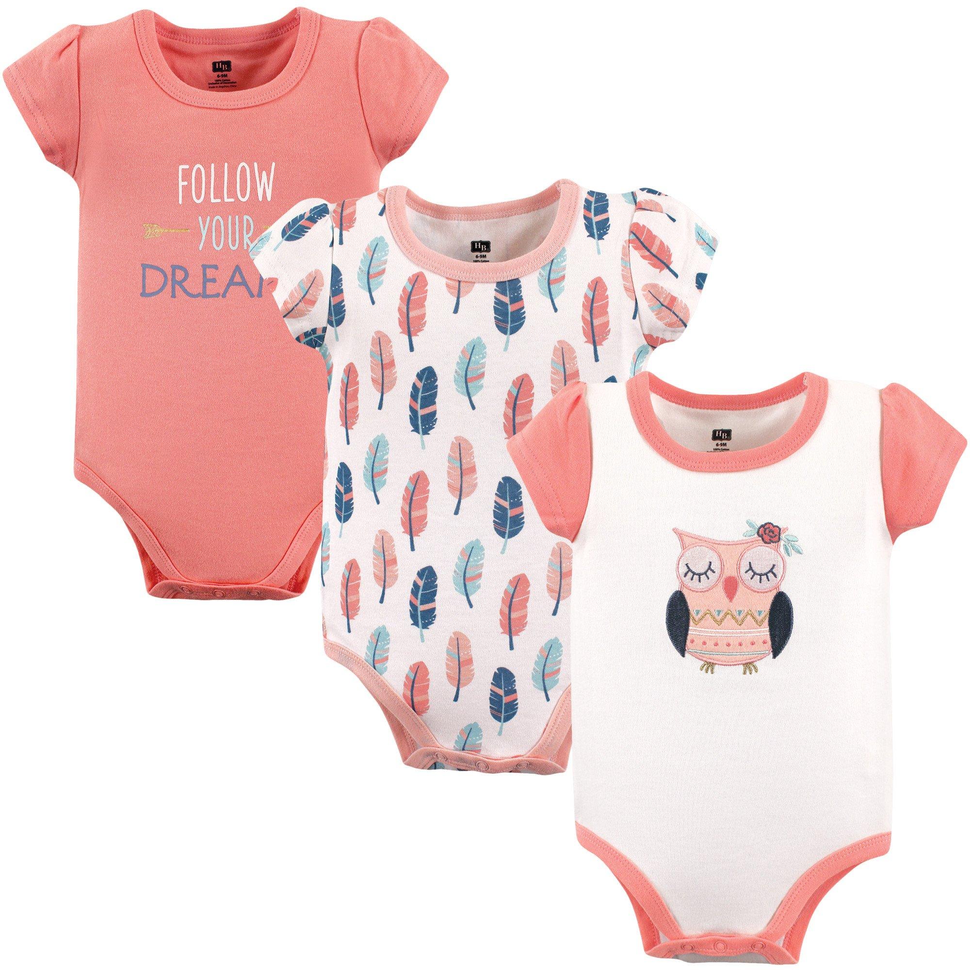 Hudson Baby Baby Infant Cotton Bodysuits, Follow