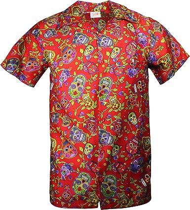 Cherry-on-Top - Camisa hawaiana, diseño de calavera, color ...