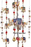 Jaipuri Haat Superior Quality White Elephant Door/Wall Hanging Home Dã©Cor In Pair