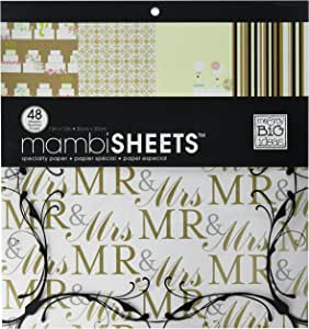 me /& my BIG ideas MAMBI Specialty Cardstock Pad 12-Inch by 12-Inch 48 Sheets Wedding