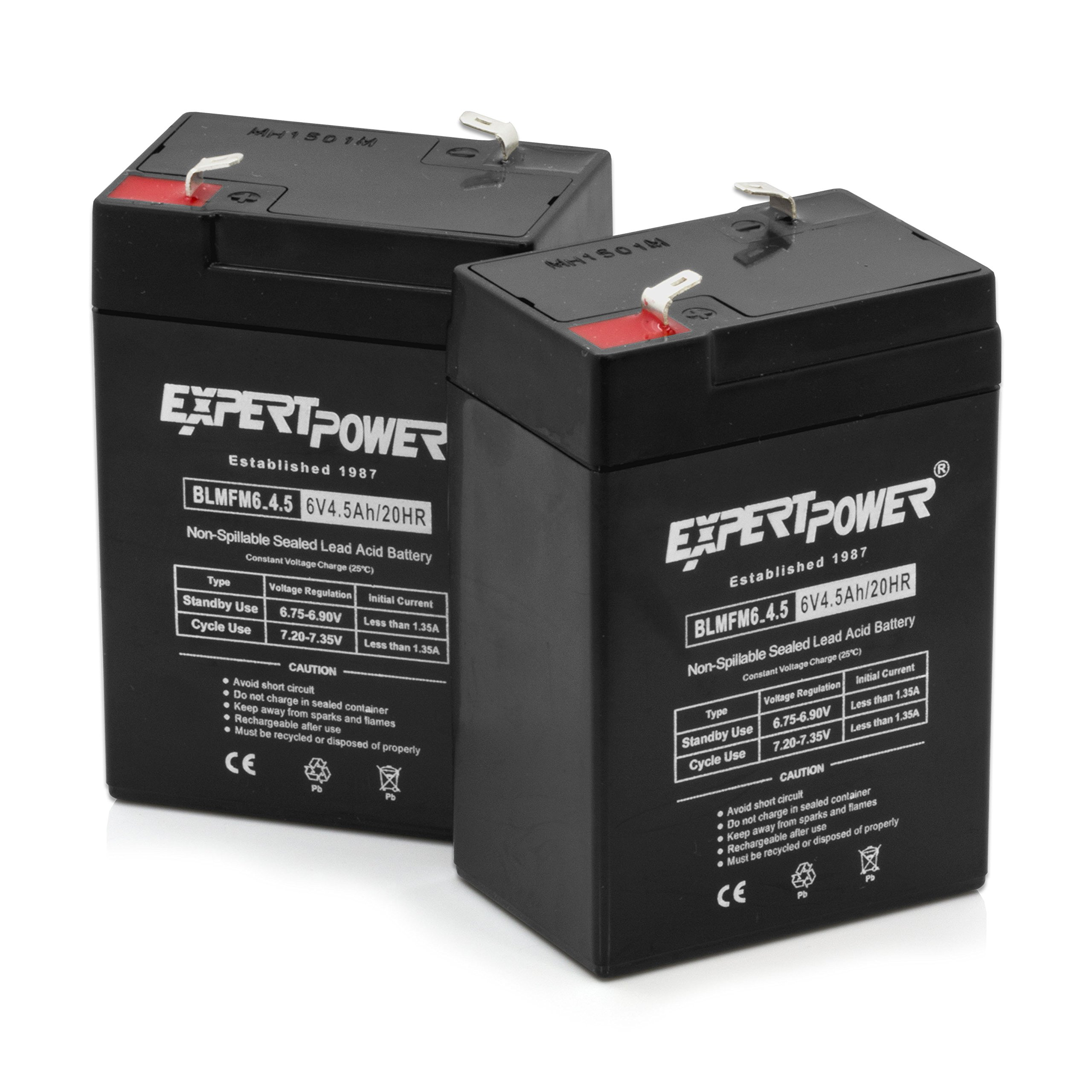 Expertpower Expertpower 6 Volt 4.5 Amp Rechargeable Battery (exp645), 2 Count by ExpertPower