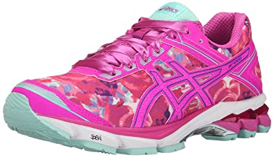 ASICS Women's GT-1000 4 PR Running Shoe, Pink Glow/Hot Pink/