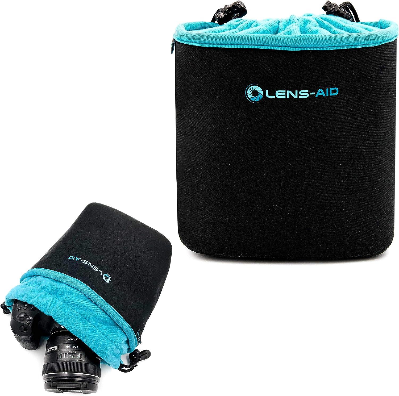 Kameratasche f/ür Rucksack und Handtasche als Einschlagtuch-Ersatz M Lens-Aid Neopren Kamerabeutel mit F/ütterung zum Schutz der Kamera-Ausr/üstung