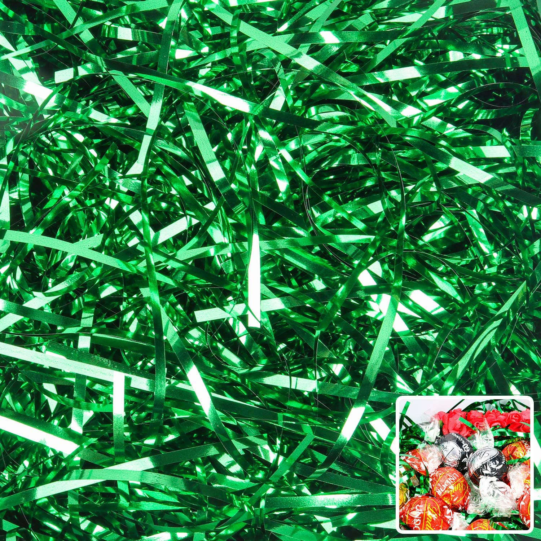 Green Paper Shred Gift Basket Filler Gift Box Filler 15 OZ