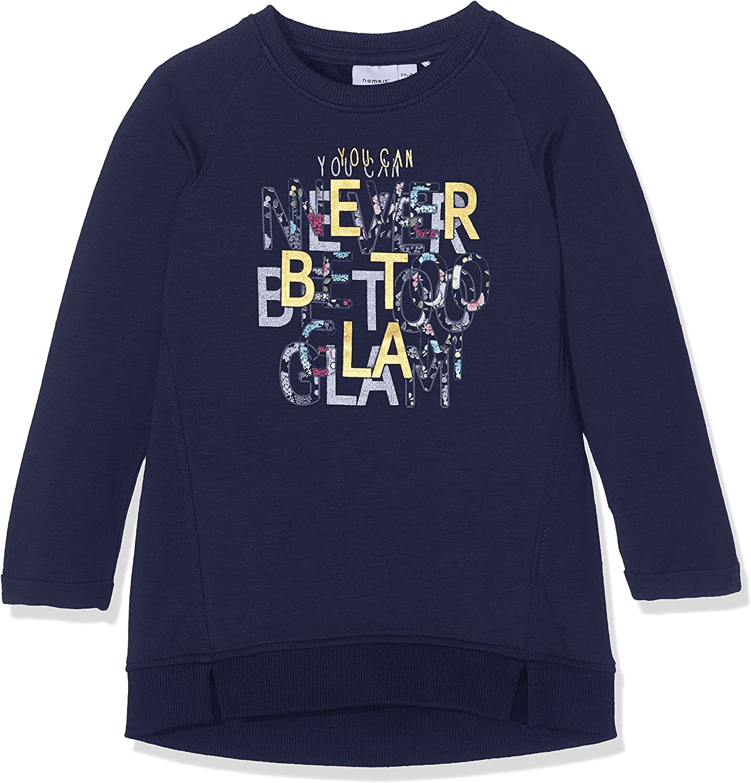 NAME IT Nmfrija LS Light Sweat Tunic Box BRU Sudadera para Beb/és