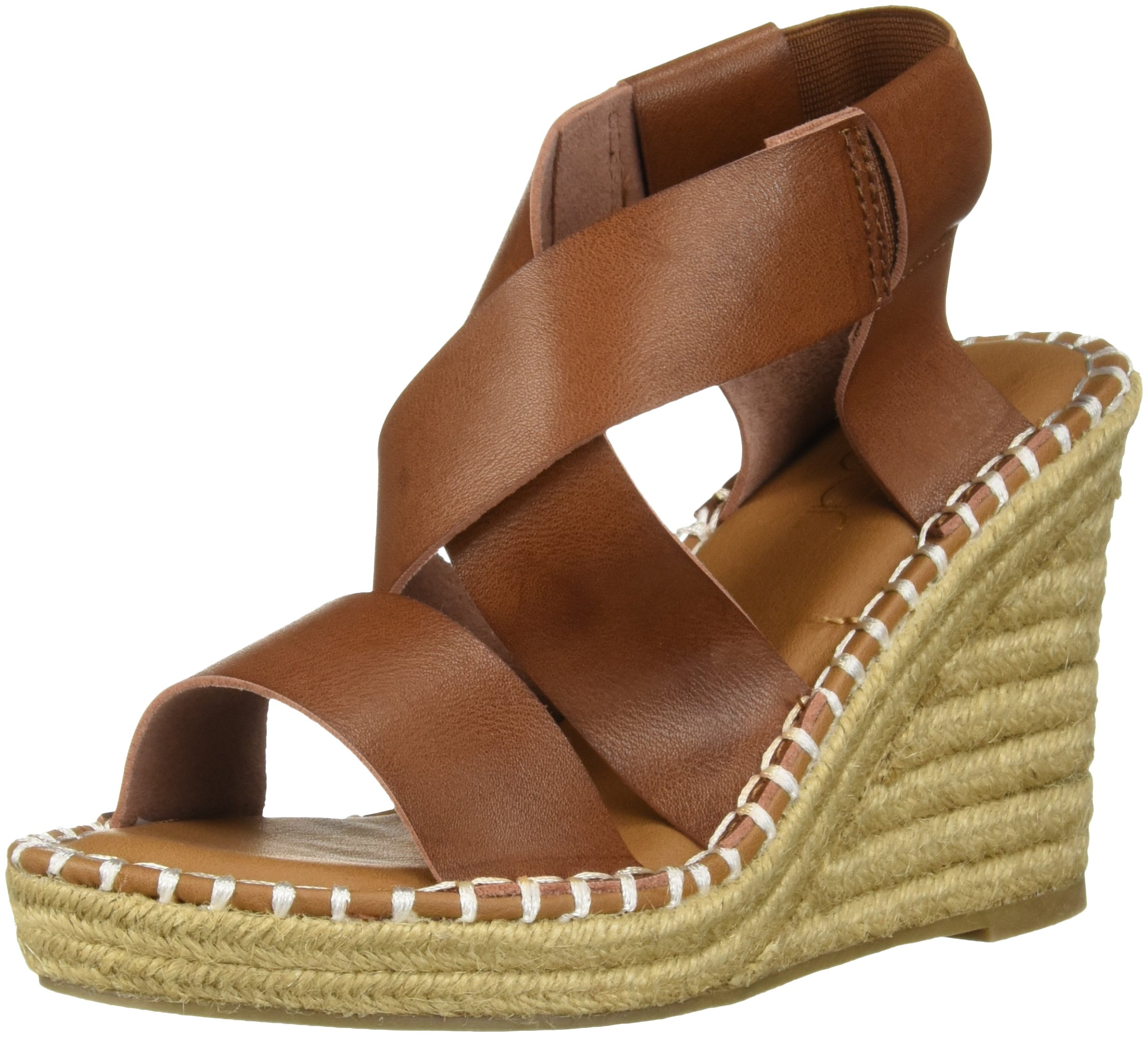 Sugar Women's SGR-Hopeful Espadrille Wedge Sandal, Dark Natural Burnish, 10 Medium US