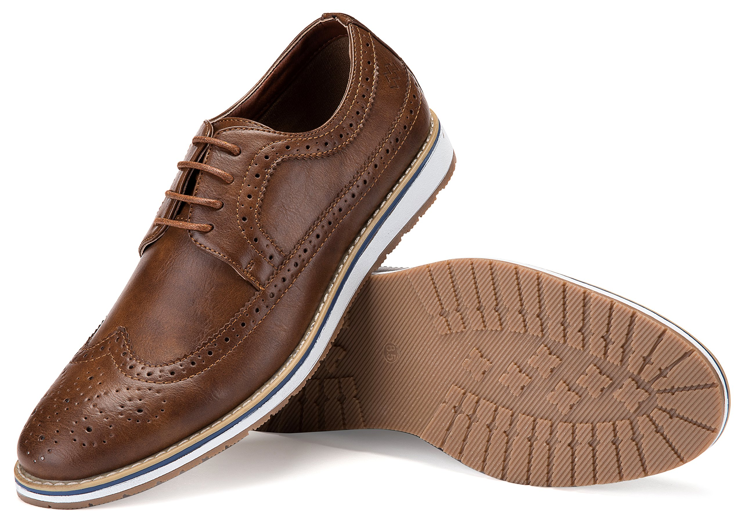 Mio Marino Mens Casual Shoes - Wingtip Oxford - Dress Shoes for Men, in A Shoe Bag