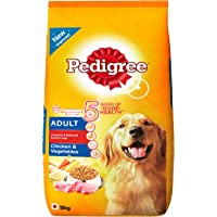 Pedigree Adult Dog Food, Chicken and Vegetables, 15 kg Pack