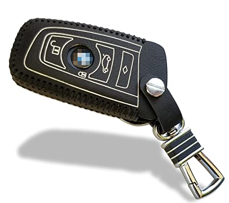 Massimiliano Incas Hot Sports Genuine Leather Smart Key Remote Case Cover Fob Fits BMW (Black)