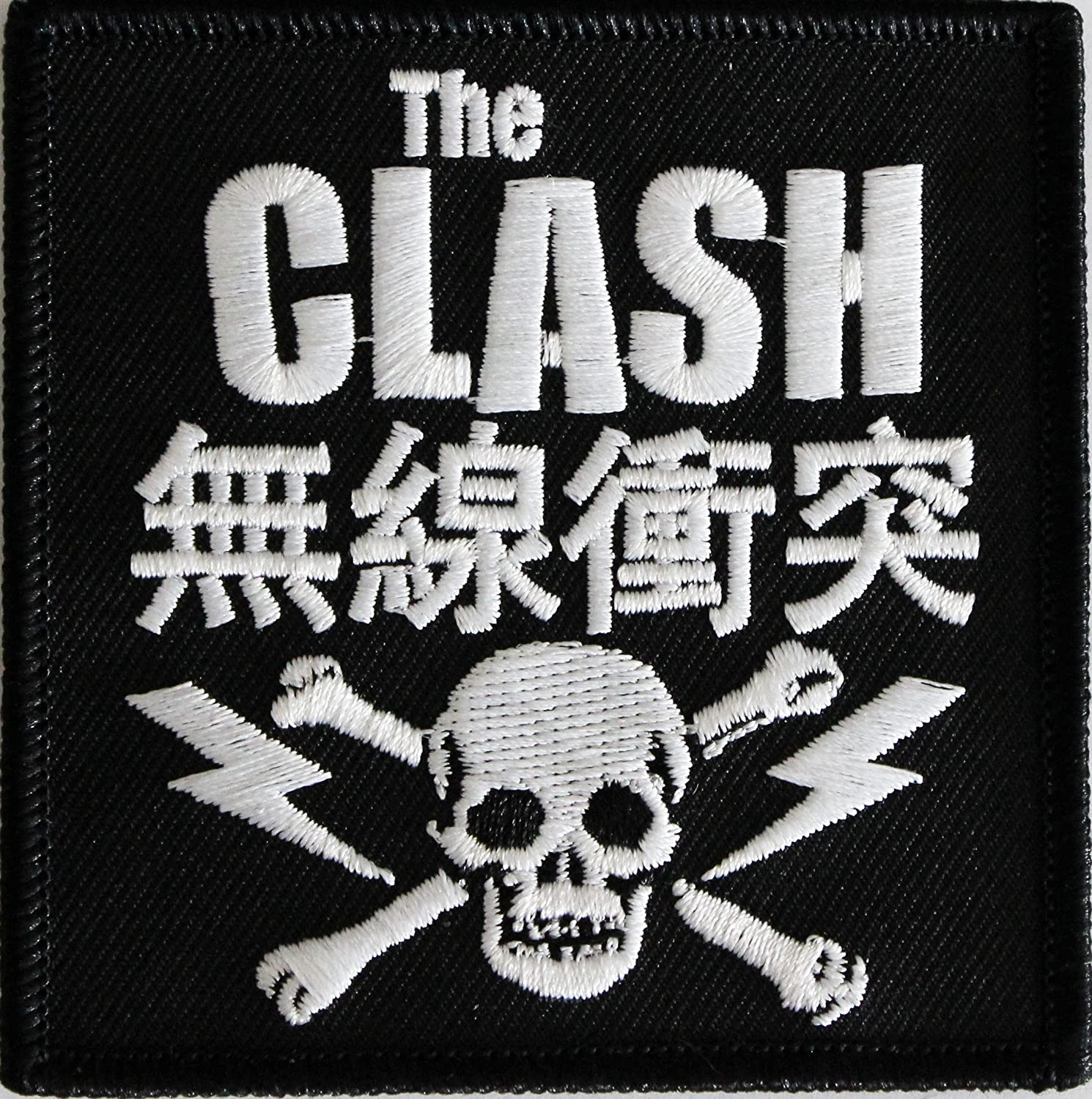 Iron-On // Sew-On Officially Licensed THE CLASH SKULL /& BOLTS 3 x 3- Embroidered PATCH