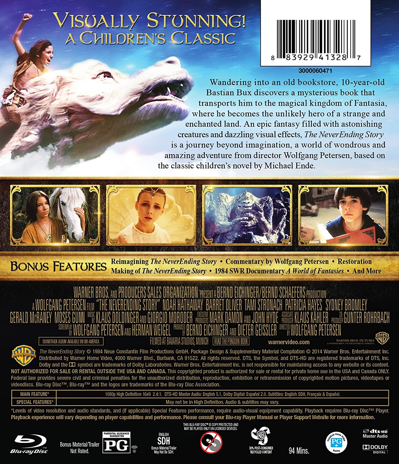 Amazon.com: The Neverending Story (30th Anniversary Edition) [Blu ...
