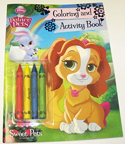 - Amazon.com: Disney Princess Palace Pets Coloring And Activity Book With 4  Jumbo Crayons ~ Sweet Pets (2014): Toys & Games