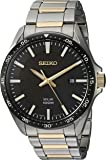 Seiko Men's Sport Watches Japanese-Quartz Stainless-Steel Strap, Silver, 19 (Model: SNE485)