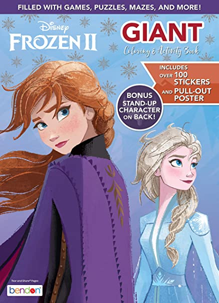 - Amazon.com: Disney Frozen 2 Giant 192-Page Activity Book 45820, Multicolor:  Toys & Games