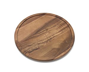 "Lipper International 1304 Acacia Wood 14"" Kitchen Turntable"