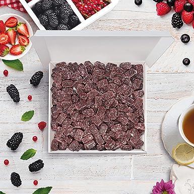 Bulk Gourmet Emporium - Caja a granel de paté de frutas de frambuesa, producto vegetariano, halal y sin envase de plástico, 1 kg